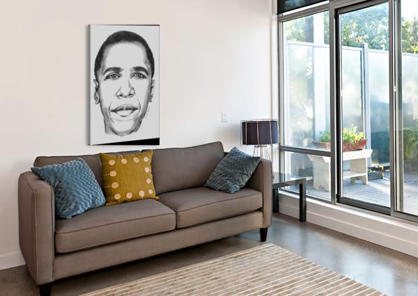 LEADER'S FACE GRACIA TENORIO ART  Canvas Print