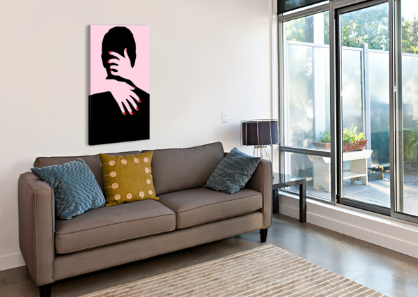 POSTER THE HANDS EMBRACE LOVE SHAMUDY  Canvas Print