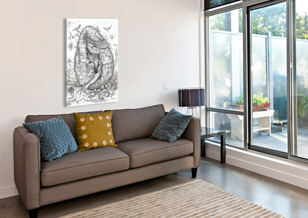 MONSTER_HATCHING_FROM_THE_EGG EGALITARIAN ART GALLERY  Canvas Print