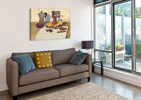 STILL_LIFE_WITH_COFFEE_50X80 EGALITARIAN ART GALLERY  Canvas Print