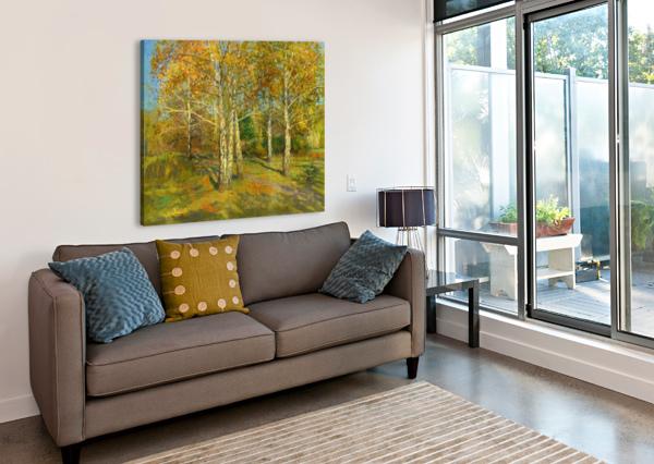 BIRCH_TREES_IN_TSARITSYNO EGALITARIAN ART GALLERY  Canvas Print