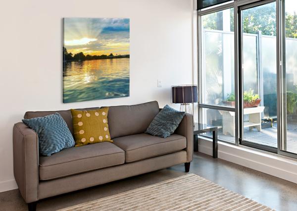 WASHINGTON CHANNEL SUNSET AEDIFICO PRINTS  Canvas Print