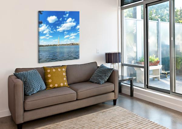 TIDAL BASIN CHERRY BLOSSOMS AEDIFICO PRINTS  Canvas Print
