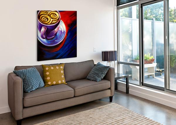 COFFEE ADAM GILLESPIE ARTWORK  Impression sur toile