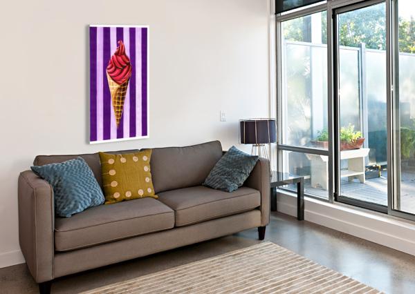 ICE CREAM ADAM GILLESPIE ARTWORK  Canvas Print