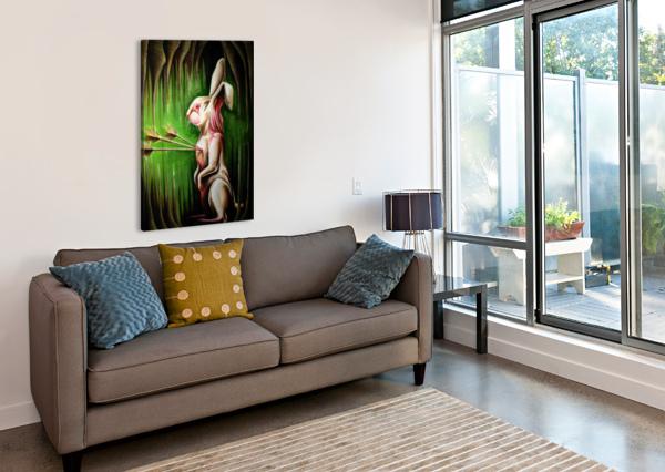 WHITE RABBIT ADAM GILLESPIE ARTWORK  Impression sur toile