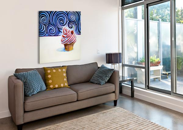 CUPCAKE ADAM GILLESPIE ARTWORK  Impression sur toile