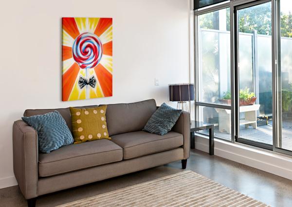 LOLLIPOP ADAM GILLESPIE ARTWORK  Canvas Print