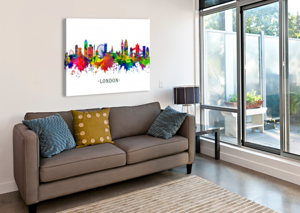 LONDON ENGLAND SKYLINE TOWSEEF DAR  Canvas Print