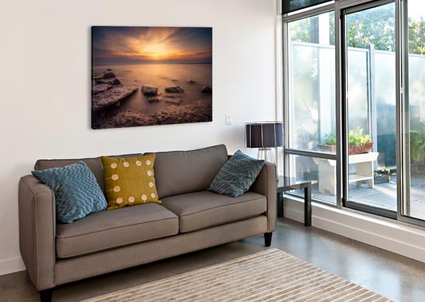 POINT PETRE SUNSET DAN FLEURY  Canvas Print