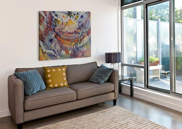 RAINBOW VLAMY  Canvas Print
