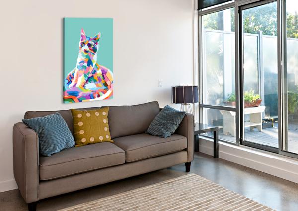 CATS ARTWORK POSTER  Canvas Print