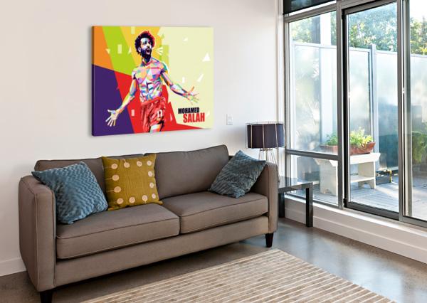MOHAMED SALAH ARTWORK POSTER  Canvas Print