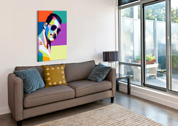 FREDDIE MERCURY ARTWORK POSTER  Canvas Print