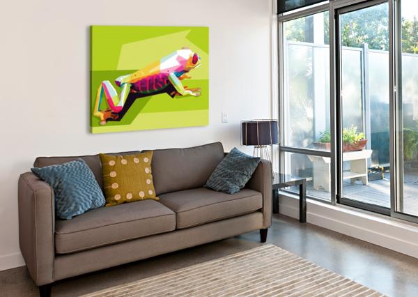 FROG ARTWORK POSTER  Canvas Print