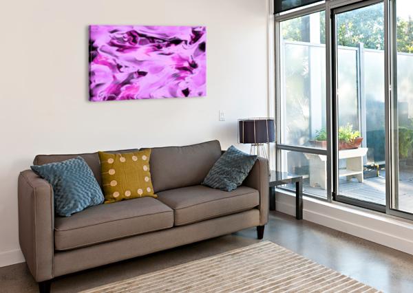 PINK FLAMINGO - PINK GREY BLACK ABSTRACT SWIRL ABSTRACT WALL ART JAYCRAVE DESIGNS  Canvas Print