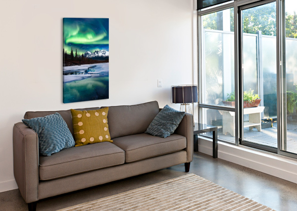 NORTHERN LIGHTS LANDSCAPE  LUCAS MOORE  Canvas Print