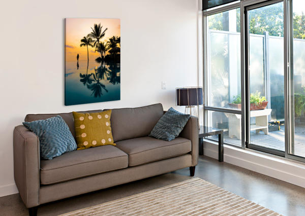 RELAXATION SUNSET LUCAS MOORE  Canvas Print