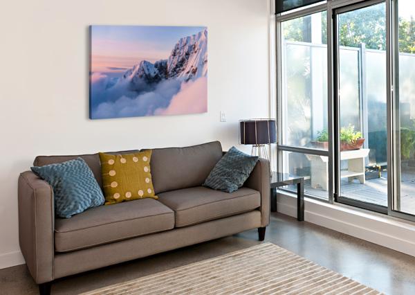 SNOWY PEAKS LUCAS MOORE  Canvas Print