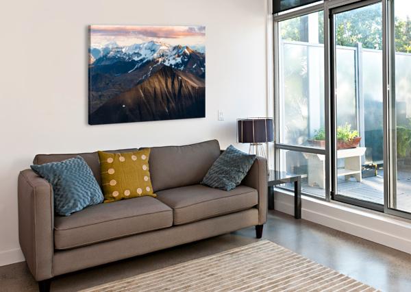 ALASKAN MOUNTAINS LUCAS MOORE  Canvas Print