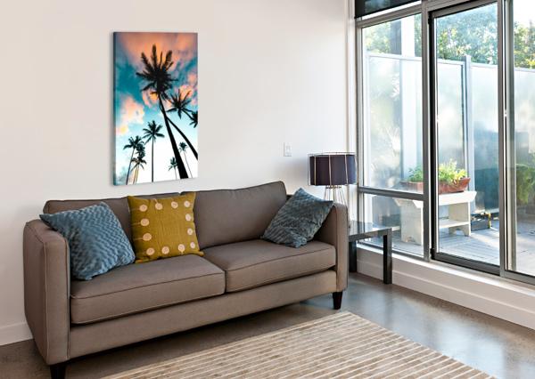 PALM TREE SUNRISE LUCAS MOORE  Canvas Print