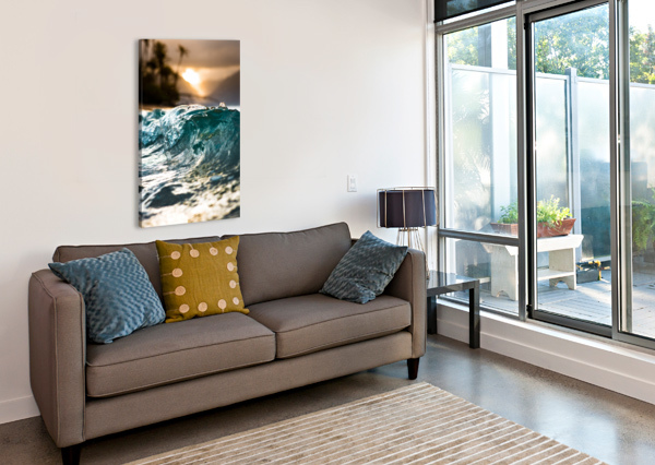 GLASSY WAVE LUCAS MOORE  Canvas Print