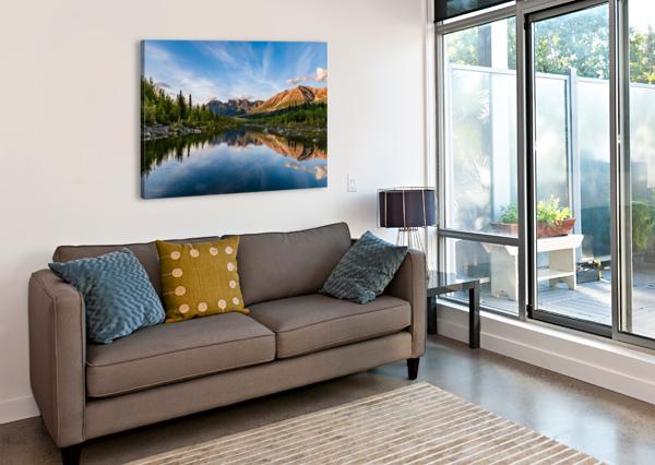 ALASKAN REFLECTION LUCAS MOORE  Canvas Print