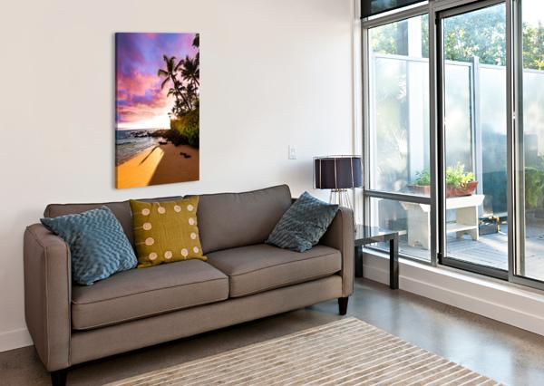 SECRET BEACH LUCAS MOORE  Canvas Print