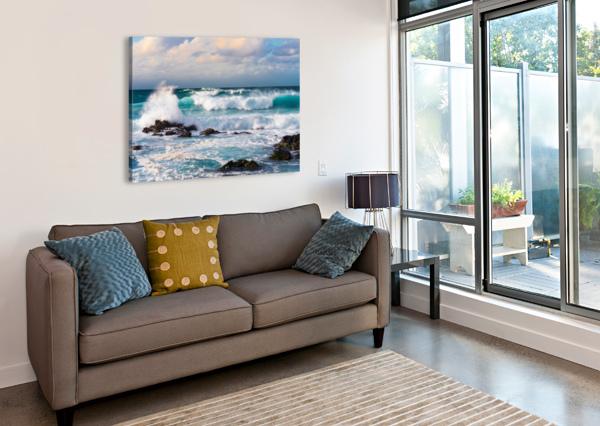 BLUE CRASH LUCAS MOORE  Canvas Print