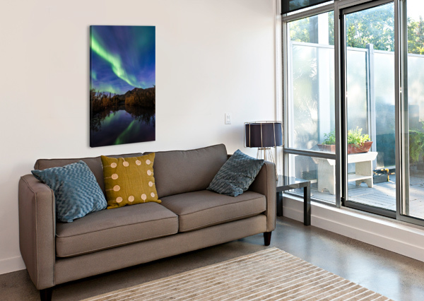 NORTHERN LIGHTS REFLECTION LUCAS MOORE  Canvas Print