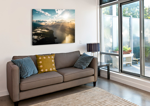 MAUI FROM ABOVE LUCAS MOORE  Canvas Print