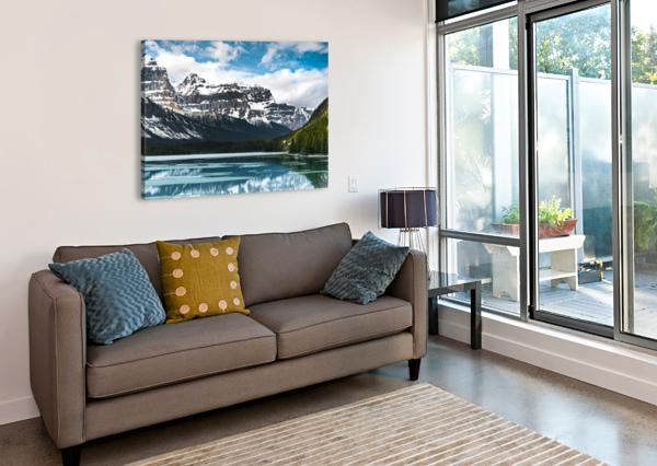 WINTER LAKE LUCAS MOORE  Canvas Print