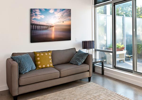 VA BEACH SUNRISE LUCAS MOORE  Canvas Print
