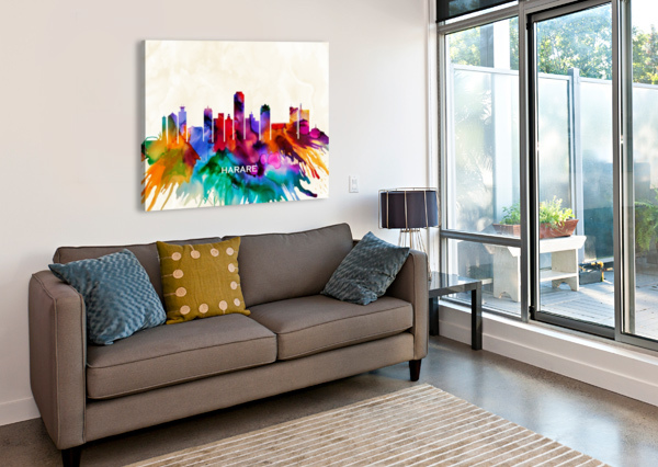 HARARE SKYLINE TOWSEEF DAR  Canvas Print