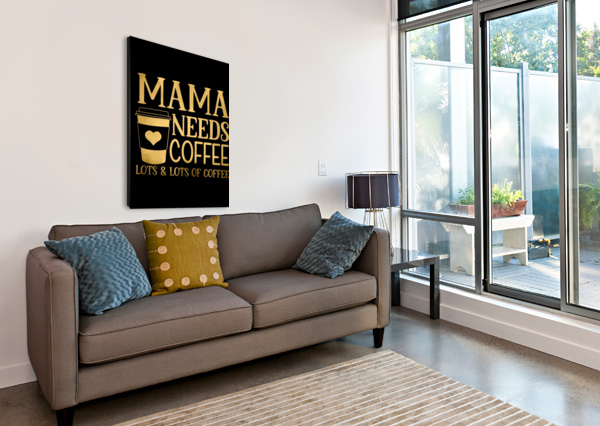 COFFEE IS MY LOVE LANGUAGE ARTISTIC PARADIGMS  Canvas Print