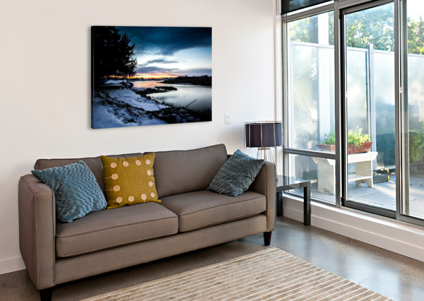 THE NITH - POST SUNSET VICTOR ROSE PHOTO  Canvas Print