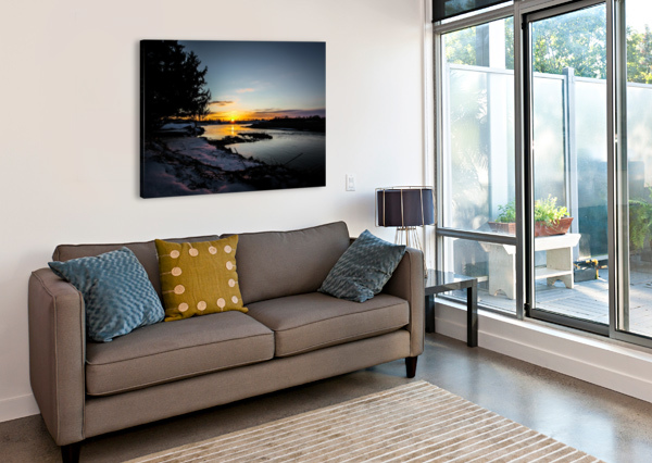 THE NITH - PRE SUNSET VICTOR ROSE PHOTO  Canvas Print