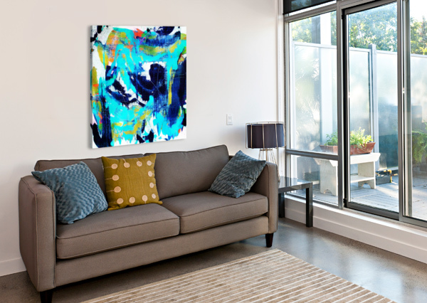 ABSTRACT IKAT CONNIE SCHOFIELD ART  Impression sur toile