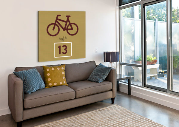 BIKE ROUTE NUMBER 13 DEPACE-  Canvas Print
