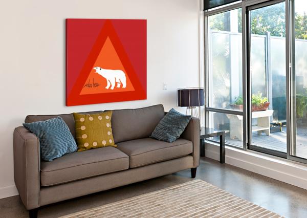 POLAR BEAR BY DEPACE DEPACE-  Canvas Print