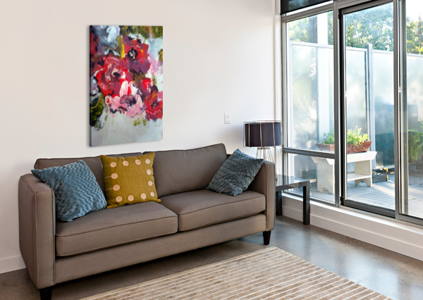 PRIMARY RED1  CANDID ART  Canvas Print
