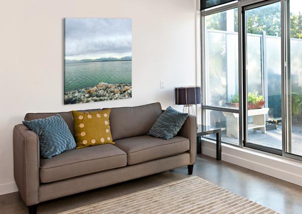 GREAT SALT LAKE SHORELINE AEDIFICO PRINTS  Canvas Print