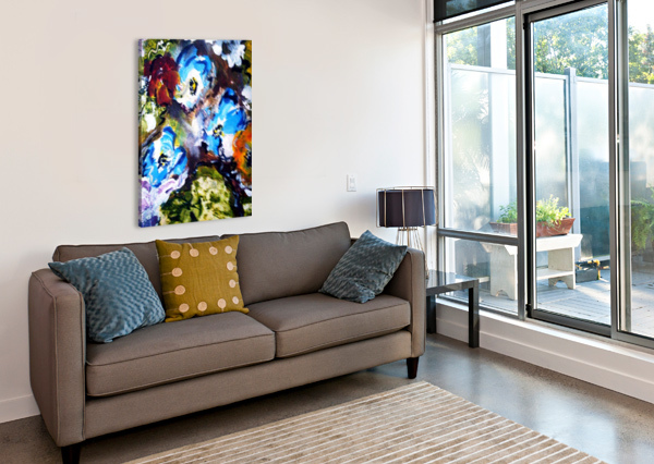 PRIMARY BLUE1 CANDID ART  Canvas Print