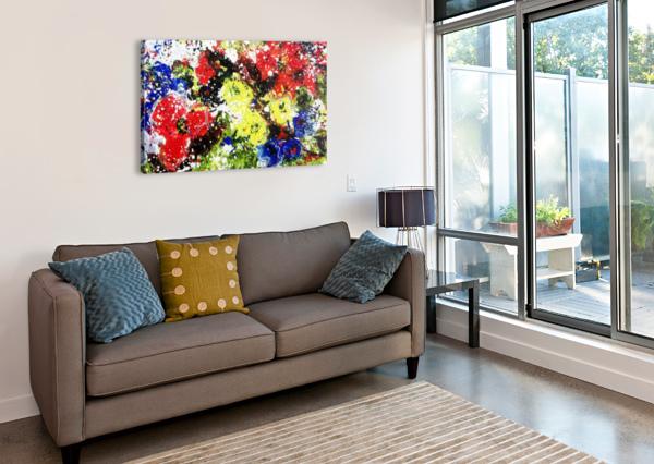 PRIMARY BLOSSOM CANDID ART  Canvas Print