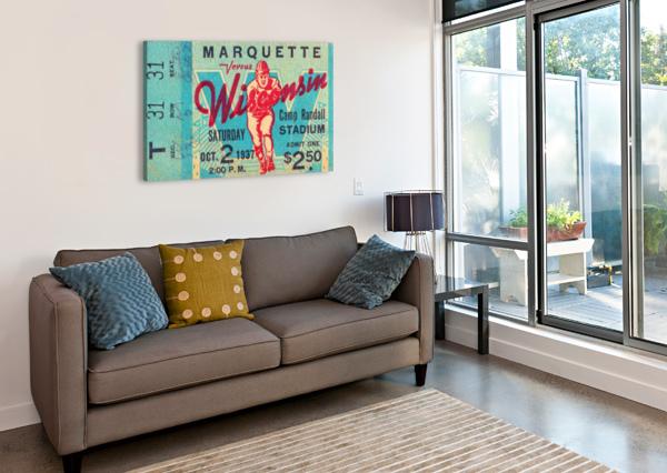 1937 MARQUETTE VS. WISCONSIN ROW ONE BRAND  Canvas Print