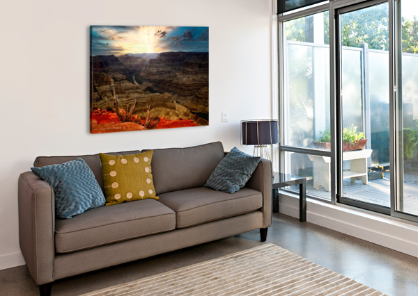 SUNRISE OVER GRAND CANYON CONNIE MAHER  Canvas Print