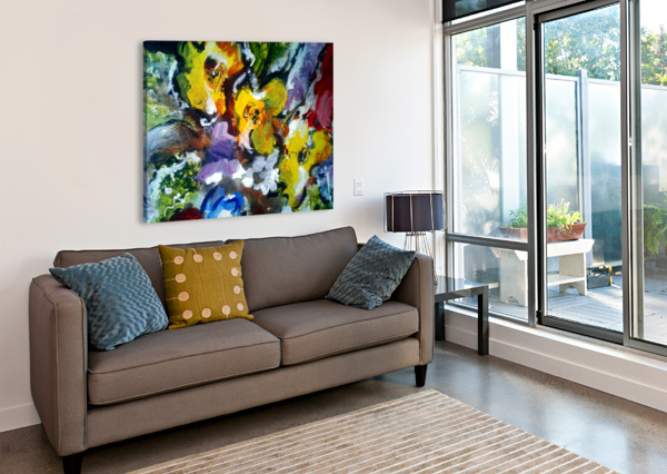 PRIMARY YELLOW CANDID ART  Canvas Print