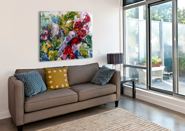 FLOWERS AND LEAVES CANDID ART  Canvas Print