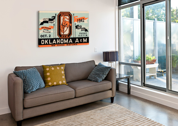 VINTAGE OKLAHOMA A&M ART ROW ONE BRAND  Canvas Print