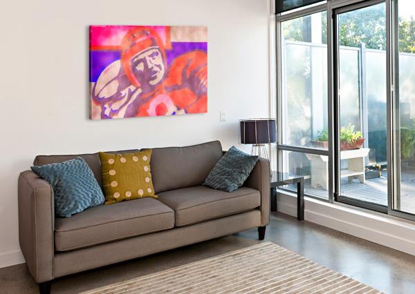 VINTAGE QUARTERBACK FOOTBALL ART_WATERCOLOR STYLE SPORTS ART PRINT ROW ONE BRAND  Canvas Print